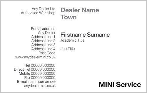 Mini Service Business Cards Sycamore Peterborough