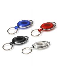 Carabiner Card Badge Reels with Key Rings - Pack of 50