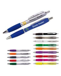 Curvey Ball Pen printed in full colour