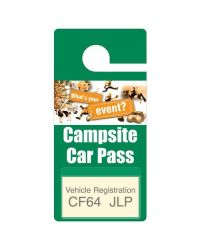 Vehicle Hanger Style Pass with Card Pouch