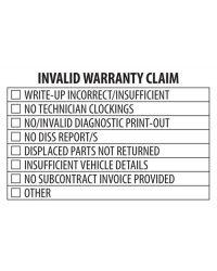 Invalid Warranty Stamp (58mmx38mm)