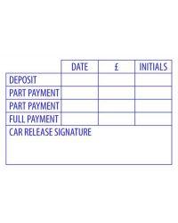 Payment Schedule Stamp (58mmx38mm)