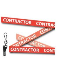 Contractor Printed Lanyards Red 15mm Wide - Metal Clip - Pack of 10