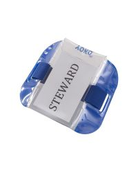 ID Armband SIA Security Badge Holder Blue