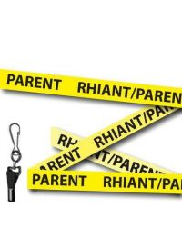 Parent Lanyards Welsh/English Yellow - Metal Clip - Pack of 10