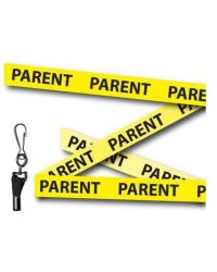 Parent Printed Lanyards Yellow 15mm Wide - Metal Clip - Pack of 10