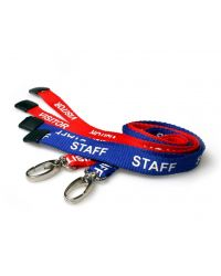 Red Visitor & Blue Staff Printed Lanyards 15mm Wide - Pack of 100