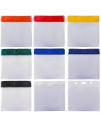 Visitor Pass Wallets & Clips, packs of 50. 100x76mm