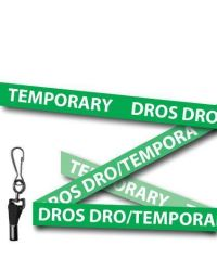 Temporary Lanyards Welsh/English Green - Metal Clip - Pack of 10