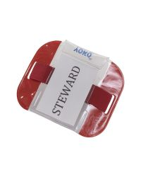 ID Armband SIA Security Badge Holder Red