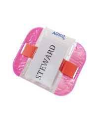 ID Armband SIA Security Badge Holder Florescent Pink