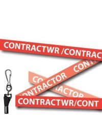 Contractor Lanyards Welsh/English Red - Metal Clip - Pack of 10