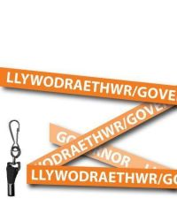Governor Lanyards Welsh/English Orange - Metal Clip - Pack of 10