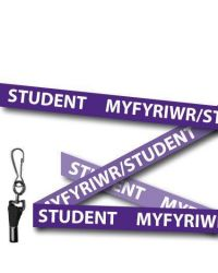 Student Lanyards Welsh/English  Purple Metal Clip - Pack of 10