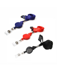 Lanyard With Integrated Retractable Yoyo/Badge Reel - Pack of 50