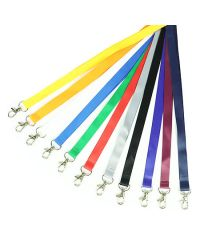 Plain Lanyards 15mm Wide & Metal Trigger Clip - Pack of 100
