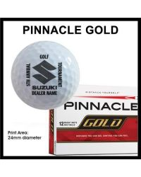 Printed Golf Balls - Single Colour - Pinnacle Gold