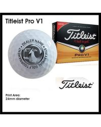 Printed Golf Balls - Single Colour - Titleist DT SoLo
