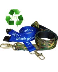 Recycled PET Sublimation Silky Lanyards Printed Full Colour