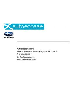 Autoecosse Business Cards - Subaru