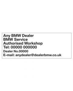 BMW Service Book Stamp