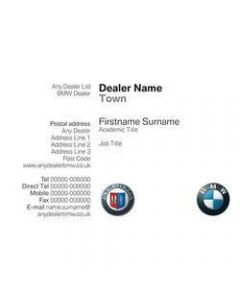 Alpina Business Cards - TWO Sided - Sytner Leicester