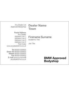 BMW Bodyshop Business Cards - Bluebell Crewe