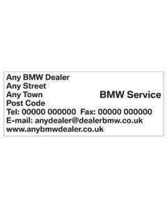 BMW Service Department Stamp