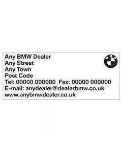 BMW Dealership Stamp