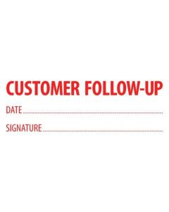 Customer Follow up Stamp (57x21mm)