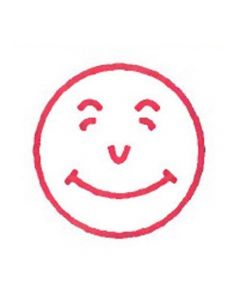 SMILEY FACE rubber stamp