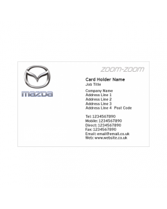 **Mazda Business Cards - Pentraeth Automotive**