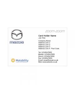 **Mazda Business Cards - Park's Elgin - Motability**