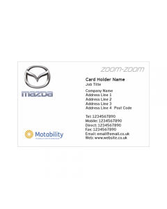 **Mazda Business Cards-Park's Inverness - Motability**