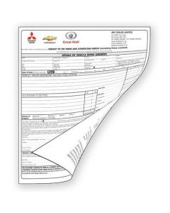 New Vehicle Order Forms