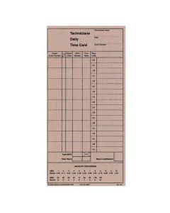 Technicians Time Cards
